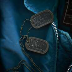 Black special forces dog tag Navy 1