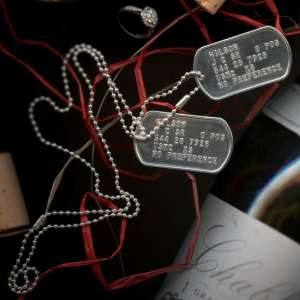 Stering Silver dog tags for Hens Night