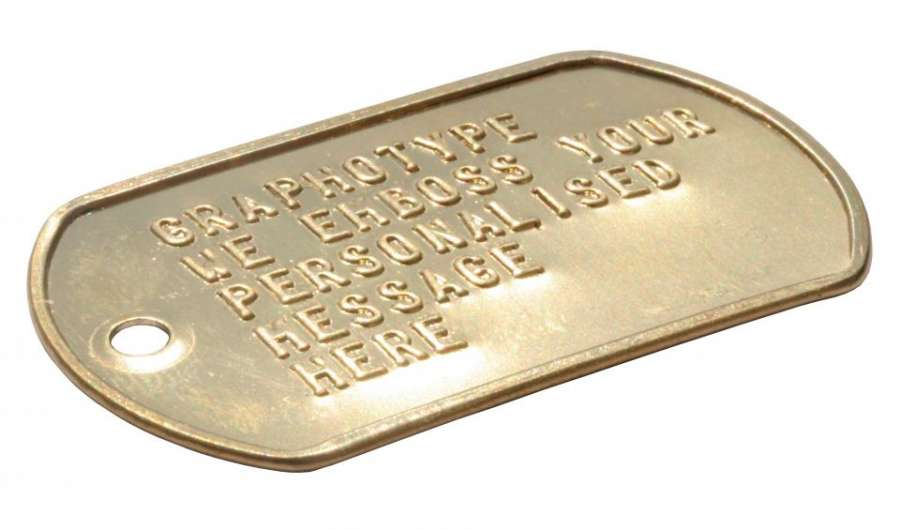 702de39e873f Brass engraved dog tags Brass dog tag without silencer brass military ...