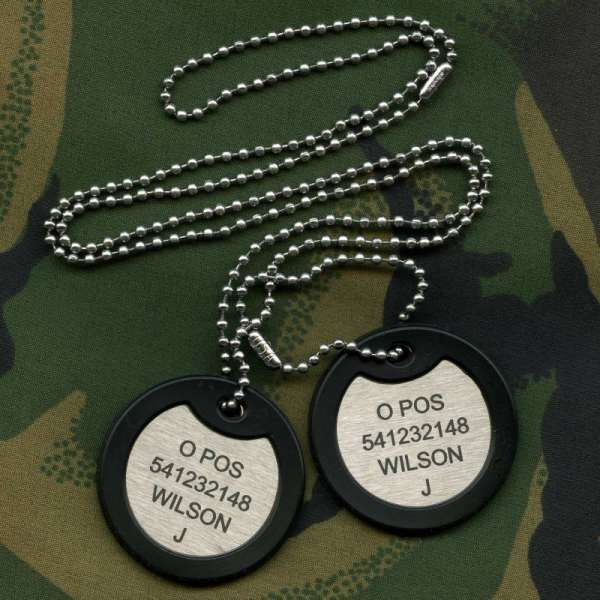 c5c6b1f7e719 British Military Forces Dog Tags
