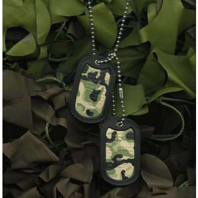 Camouflage Dog Tags
