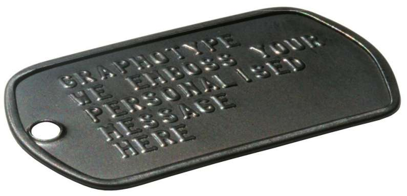 Black DLC dog tags