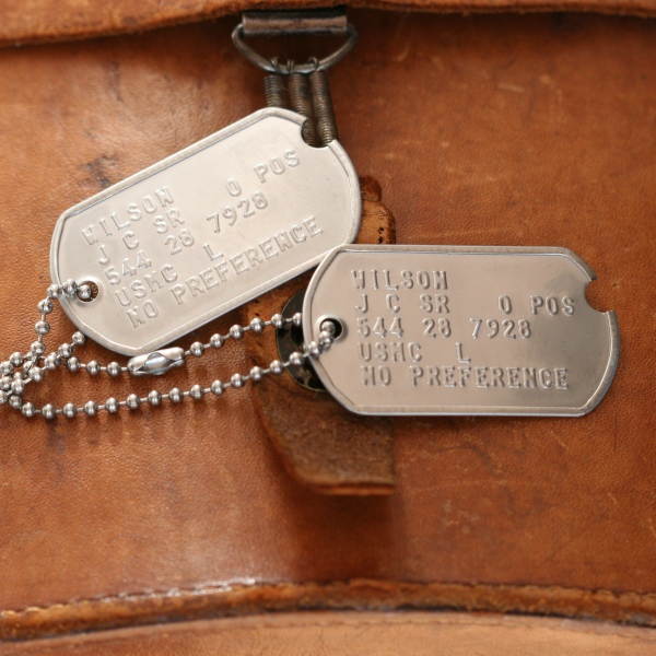 how to read ww2 dog tags