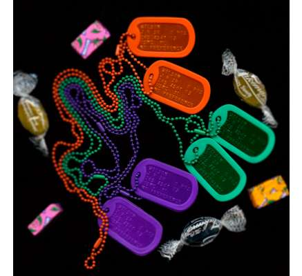 Mixed colour dog tags